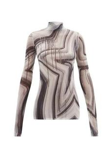 Acne Studios X Ben Quinn high-neck star-print jersey top
