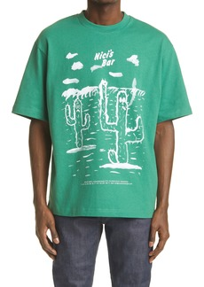 Acne Studios x Beni Bischof Men's Cactus Print Graphic Tee