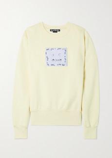 Acne Studios Appliqued Cotton-jersey Sweatshirt