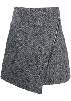 Acne Studios asymmetric woven mini skirt