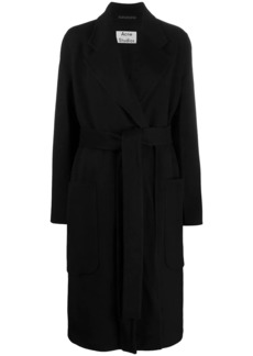 Acne Studios belted midi coat