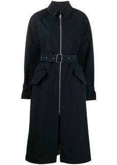 Acne Studios belted zip-fastening trench coat