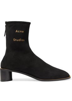 Acne Studios Bertine Shearling-lined Suede Ankle Boots