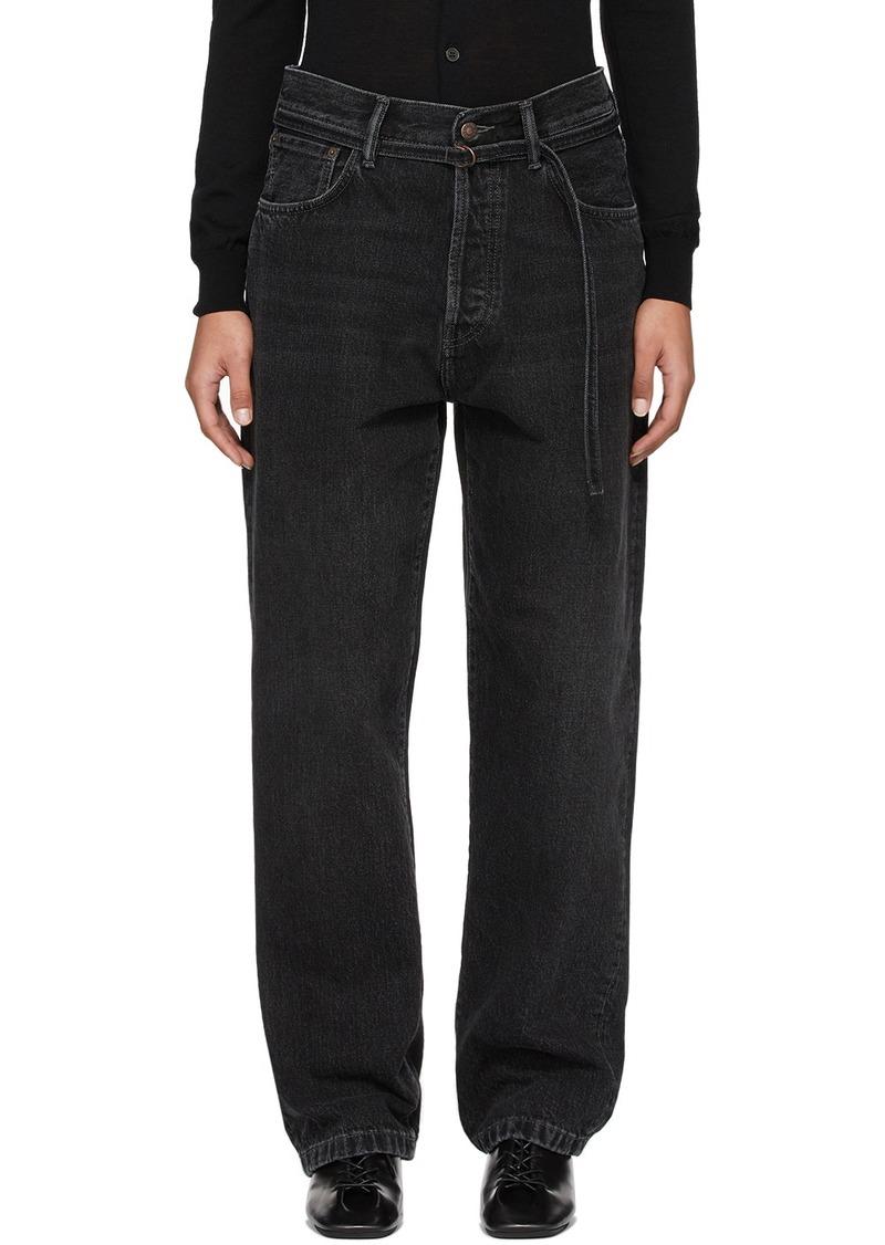 Acne Studios Black Blå Konst 1997 Toj Vintage Jeans