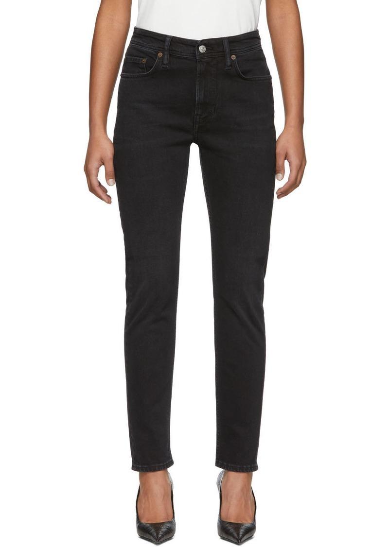 Acne Studios Black Blå Konst Melk Used Jeans