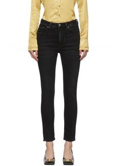Acne Studios Black Blå Konst Used Peg Jeans