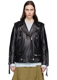 Acne Studios Black Leather New Myrtle Jacket