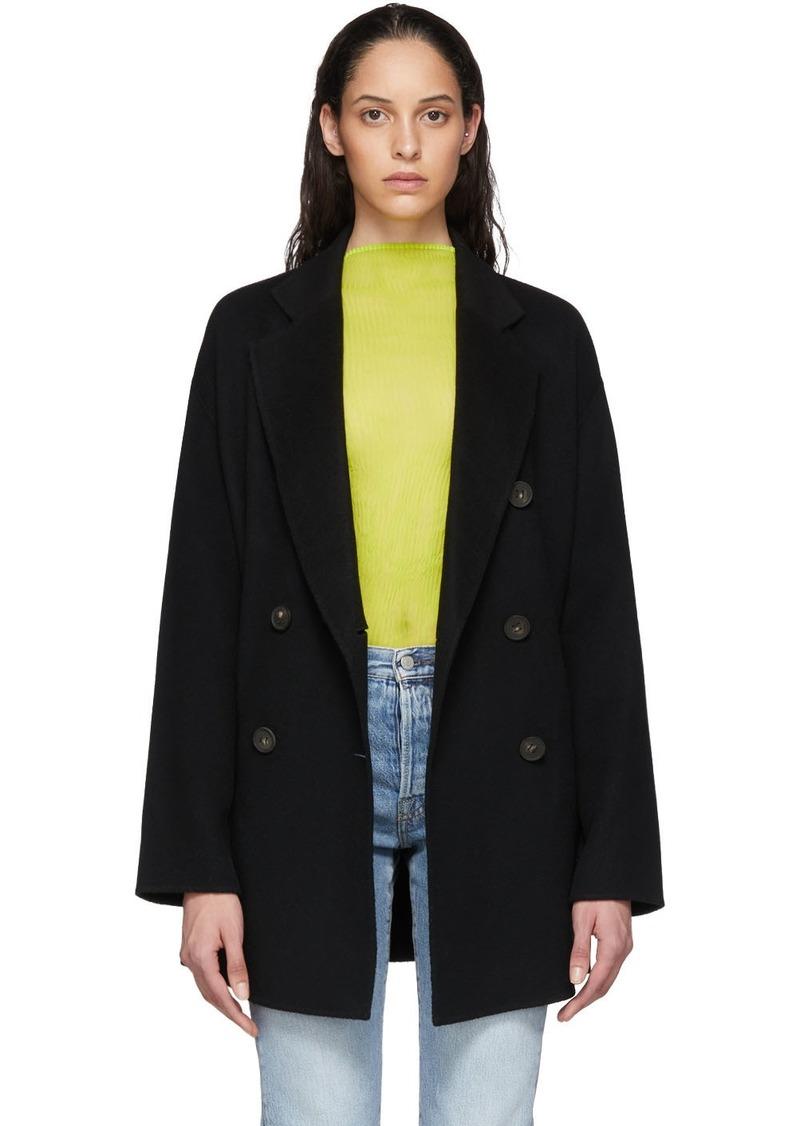 Acne Studios Black Odine Coat