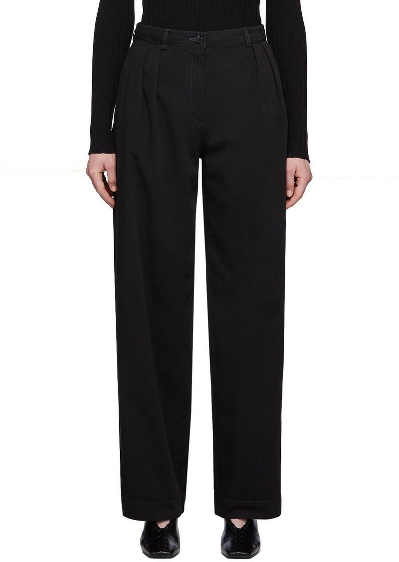 Acne Studios Black Pavi Chino Pleated Trousers