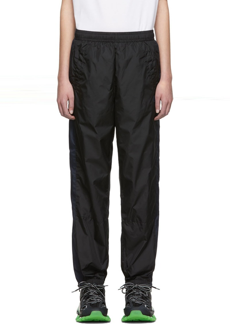 Acne Studios Black Phoenix Face Nylon Lounge Pants