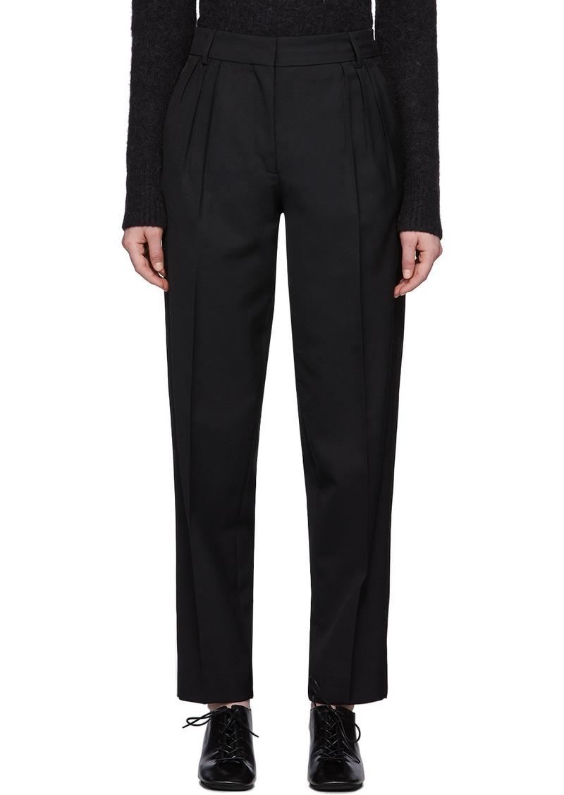 Acne Studios Black Summer Wool Pleated Trousers