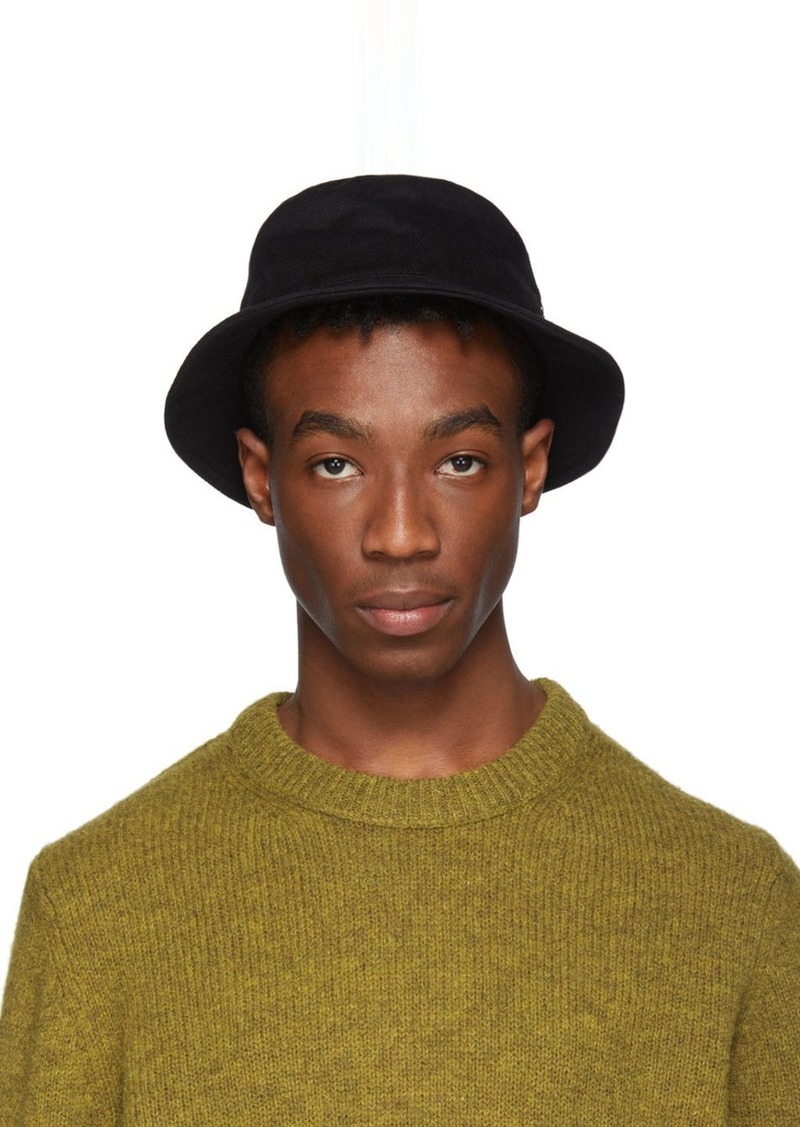 Acne Studios Black Twill Buk A Bucket Hat  39cb78c95f16