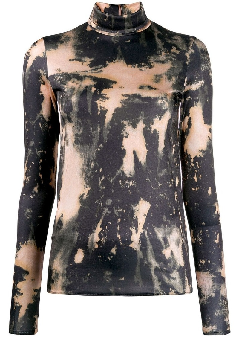 Acne Studios bleach print turtleneck top