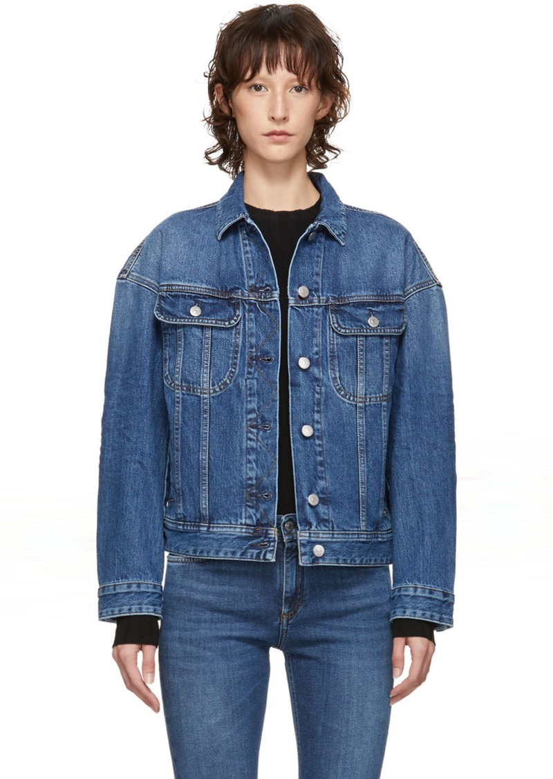 Blue Blå Konst Denim Lamp Jacket