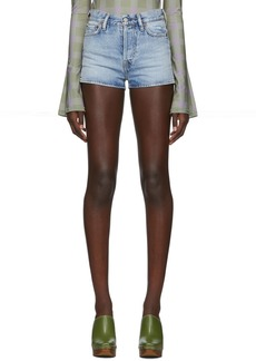 Acne Studios Blue Blå Konst Denim Magee Trash Shorts