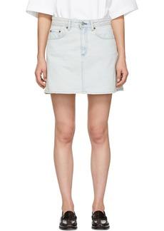 Acne Studios Blue Blå Konst Denim Mini Skirt
