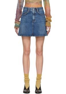 Acne Studios Blue Blå Konst Denim Miniskirt