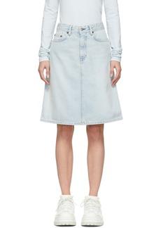 Acne Studios Blue Blå Konst Denim Shadow Skirt