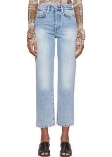 Acne Studios Blue Blå Konst Mece Trash Jeans