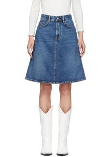 Acne Studios Blue Blå Konst Shadow Miniskirt