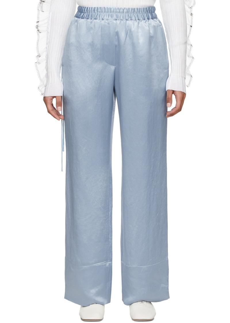 Acne Studios Blue Satin Pame Fluid Trousers
