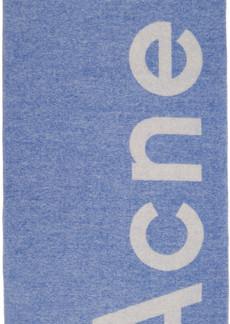 Acne Studios Blue Toronty Scarf