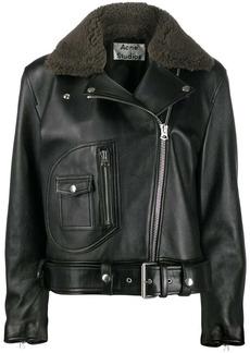 Acne Studios boxy fit biker jacket