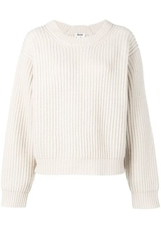 Acne Studios boxy rib knit sweater
