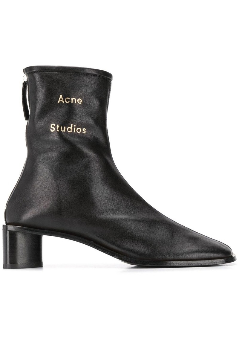 Acne Studios branded ankle boots