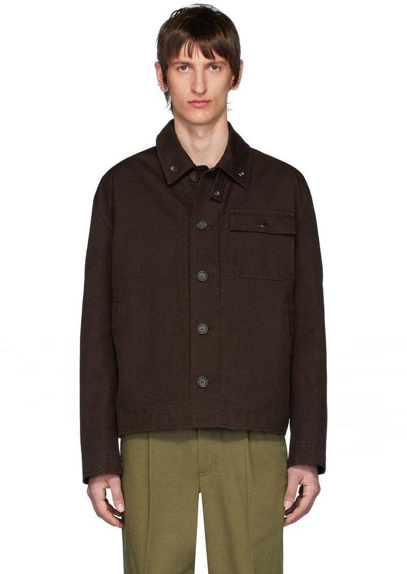Acne Studios Brown Twill Ognite Jacket