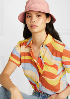 Acne Studios Buk Face Appliquéd Cotton-twill Bucket Hat