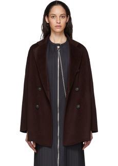 Acne Studios Burgundy Odine Coat