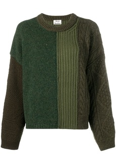 Acne Studios cable knit mix sweater