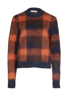 Acne Studios Checked alpaca-blend sweater
