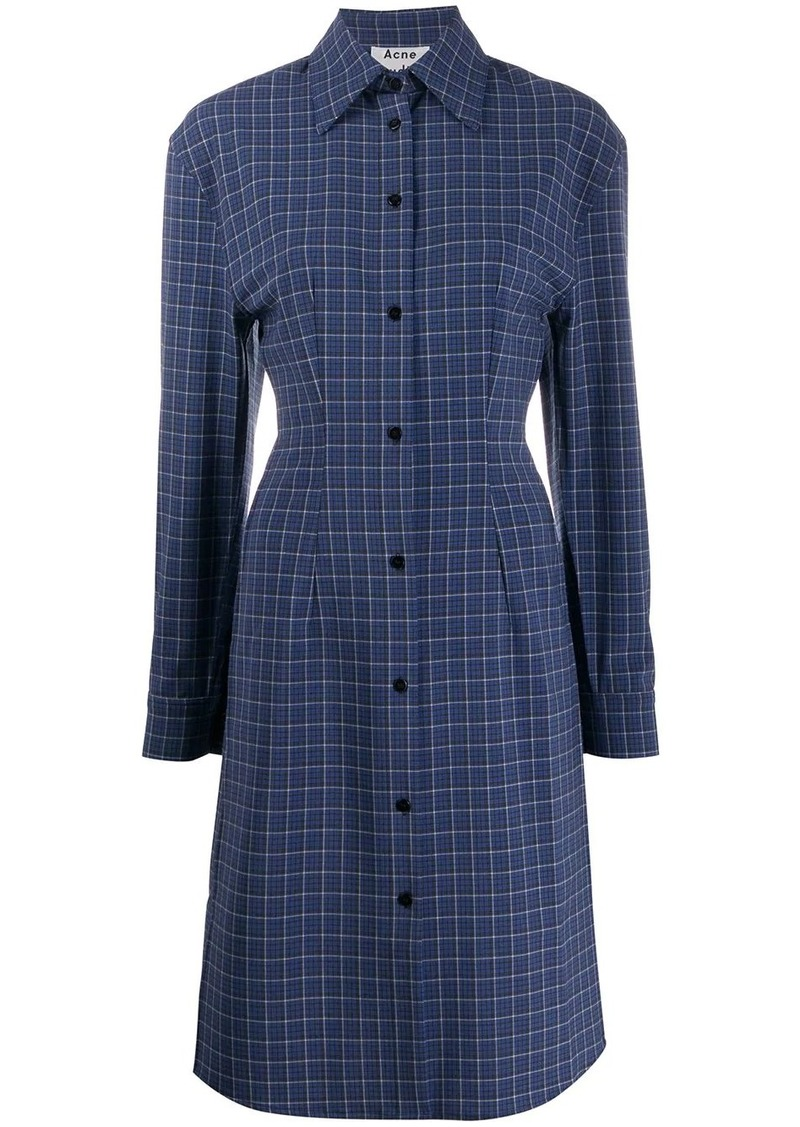 Acne Studios checked shirt dress