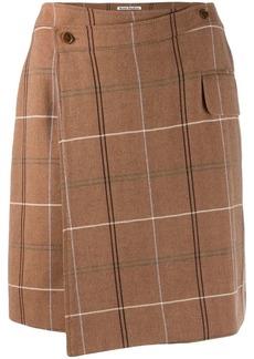 Acne Studios checked wrap mini skirt