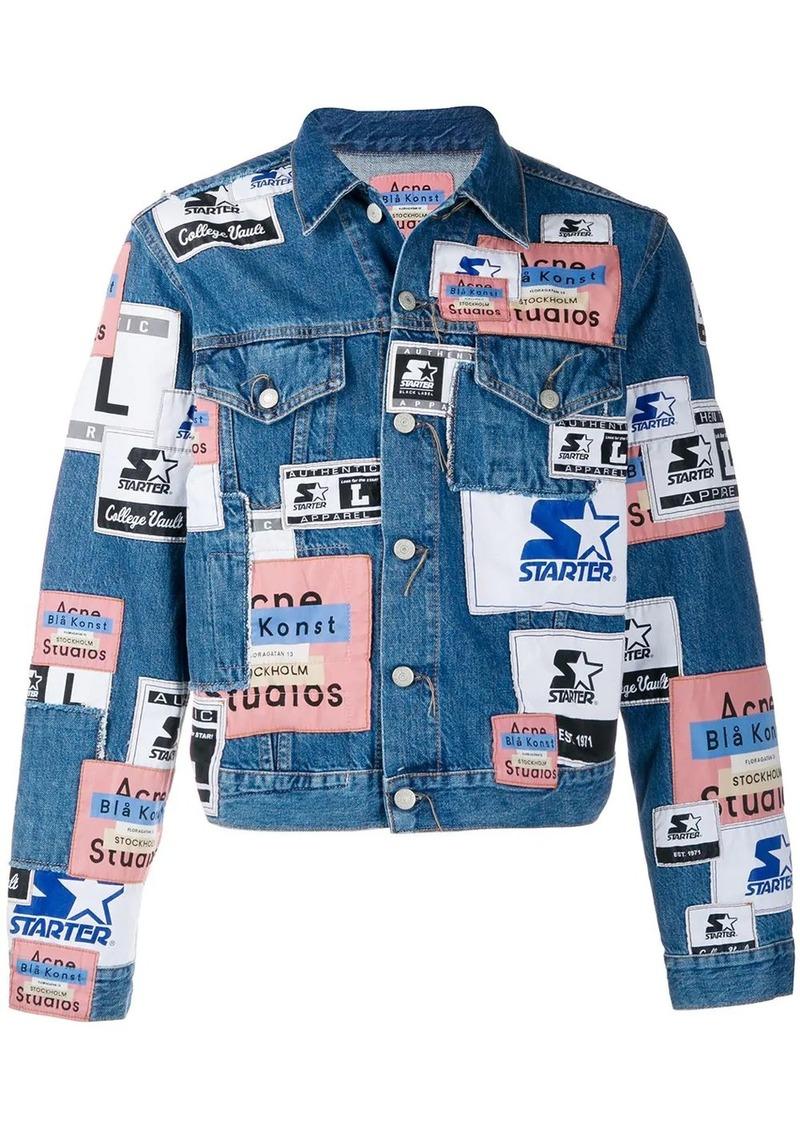 Acne Studios collab patch denim jacket