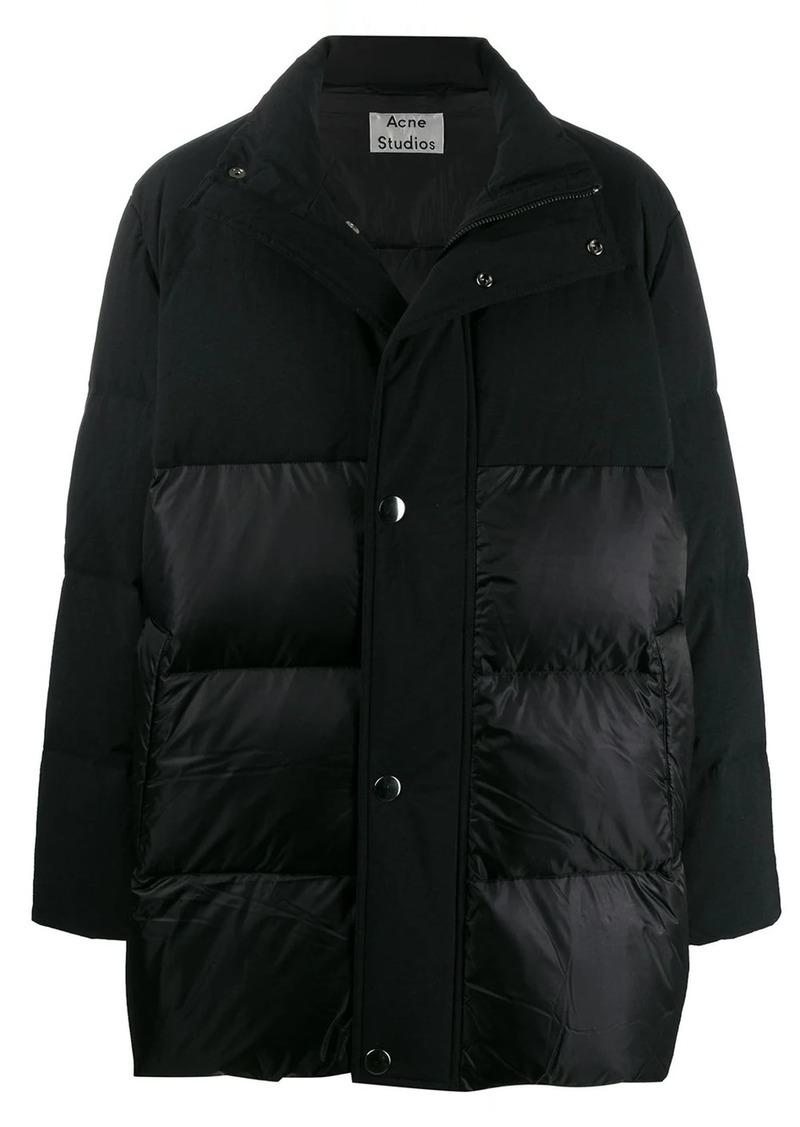 Acne Studios contrast panels hooded coat