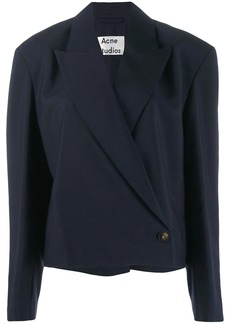 Acne Studios cropped 80s-inspired lightweight suit jacket