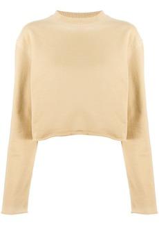Acne Studios cropped boxy sweatshirt
