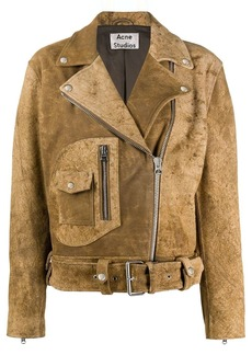 Acne Studios cropped zipped biker jacket