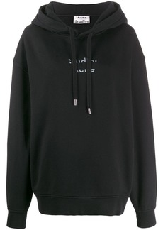 Acne Studios cut out logo hooded sweater