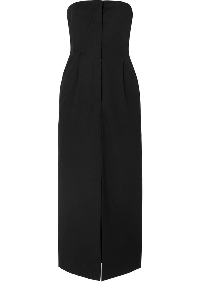 Acne Studios Dagila Strapless Layered Wool Maxi Dress