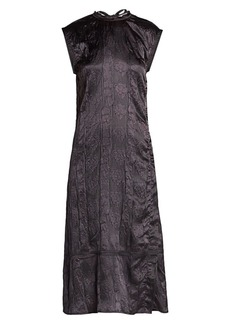 Acne Studios Darienne Embossed Satin Midi Dress