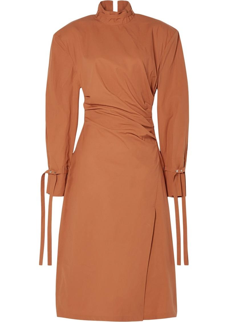 Acne Studios Deera Ruched Cotton-poplin Dress