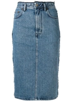 Acne Studios denim pencil skirt