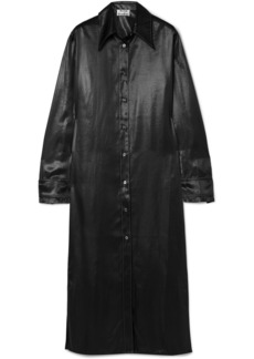 Acne Studios Dimara Satin Shirt Dress