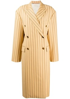 Acne Studios Double-breasted pinstripe overcoat