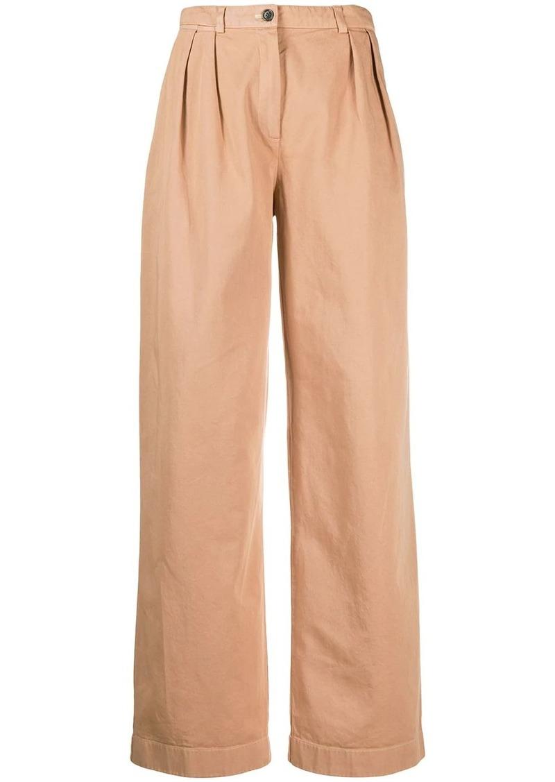 Acne Studios double pleat straight-leg trousers