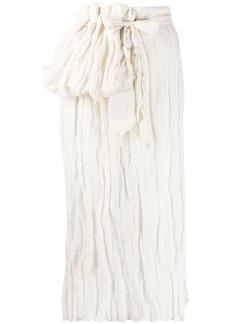 Acne Studios crinkle-effect skirt